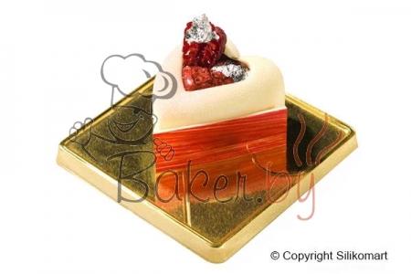 """Форма силиконовая """"Сердце с выемкой среднее"""", 10 выемок 49х54 h28 мм"""
