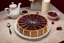 """Чизкейк """"New-York с лесными ягодами"""" (1,80 кг) (16 куск. по 113 гр)"""