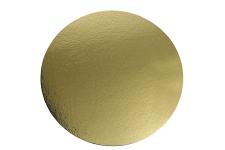 Поднос для торта, D30 см, золото/серебро, из фольгированного картона