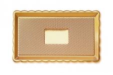 """Поднос для тортов """"Медоро"""" прямоугольный 35х15см, золото, пластик"""