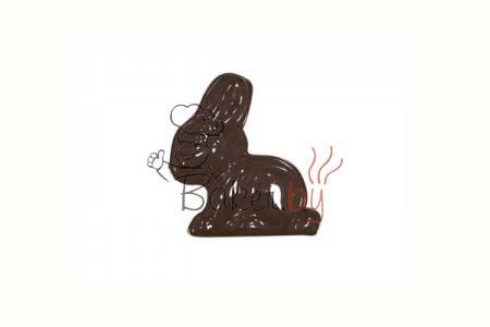 """Форма для шоколадных украшений """"Кролик маленький"""""""
