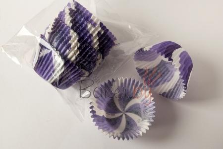 """Форма для выпечки """"Вихрь"""" фиолетовый Ø50 h35 мм, 25 шт."""