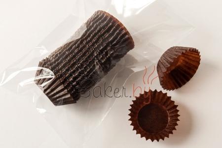 """Форма бумажная """"Зулу"""" коричневая, Ø29 h16 мм, 50 шт."""