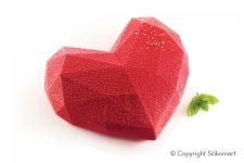 """Форма силиконовая """"Сердце Оригами 600мл"""" (в комплекте с вырубкой), 150x135 h55 мм"""