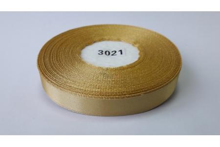 Лента атласная (желтая), 12мм, намотка 32,9м
