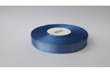 Лента атласная (голубая), 12мм, намотка 32,9м