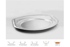 Форма для выпечки овальная 361,4х204,8 h27 мм, 10 шт.
