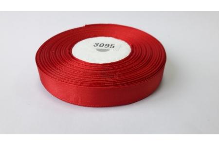 Лента атласная (красная), 12мм, намотка 32,9м