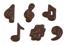 """Форма для шоколадных украшений """"Музыкальные ноты, большие"""""""