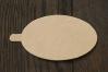 Подложка для пирожных с держателем, 60х95 мм (толщина 0,8мм), золото, из фольгированного картона