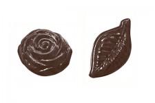 """Форма для шоколадных украшений """"Розочки и листочки"""""""