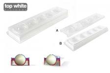 Форма силиконовая для изготовления объёмного шара Ø58 мм, 5 выемок