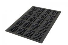 """Форма силиконовая """"Вафли прямоугольные"""" 600х400мм, 20 выемок 95х70 h24 мм"""