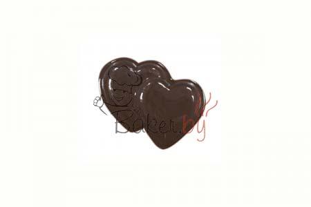 """Форма для шоколадных украшений """"Сердечки двойные"""""""