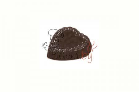 """Форма для шоколадных украшений """"Сердце с огранкой"""""""