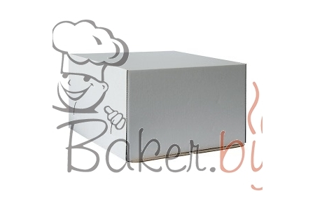 Коробка для торта, 300х300х h190 мм (плотный картон)
