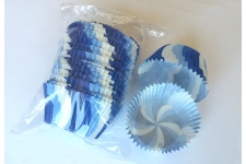 """Форма для выпечки """"Вихрь"""" голубой, Ø50 h35 мм, 25 шт."""