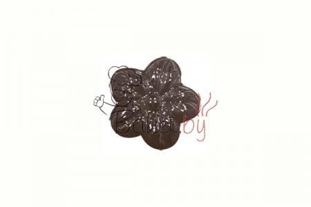 """Форма для шоколадных украшений """"Цветы 5 лепестков"""" 11 ячеек"""